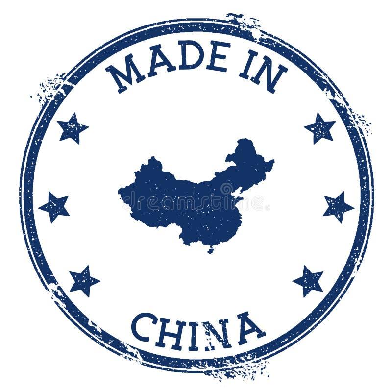 Effectué dans l'estampille de la Chine illustration de vecteur