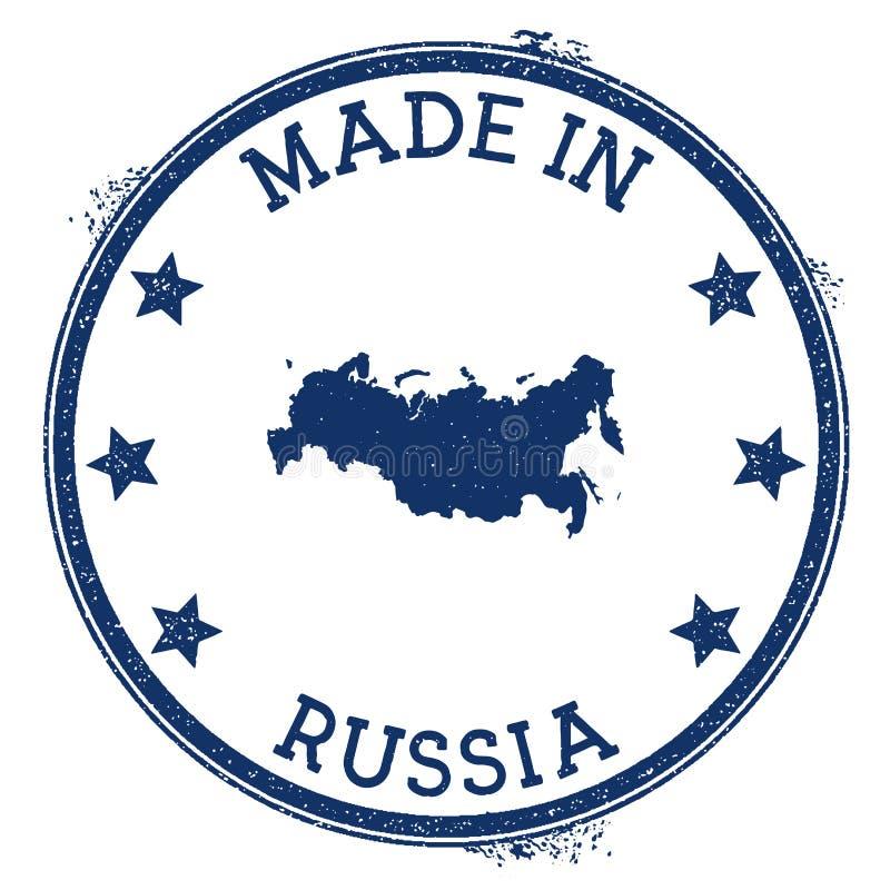 Effectué dans l'estampille de la Russie illustration libre de droits