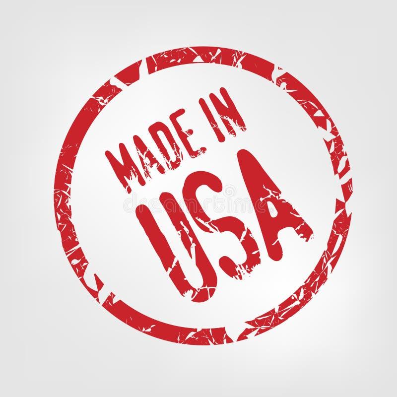 Effectué dans l'estampille des Etats-Unis illustration stock