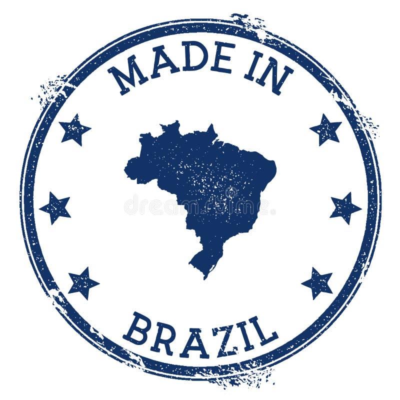 Effectué dans l'estampille du Brésil illustration libre de droits