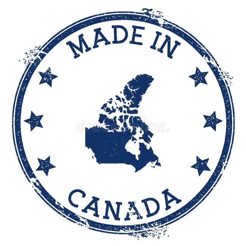 Effectué dans l'estampille du Canada illustration libre de droits