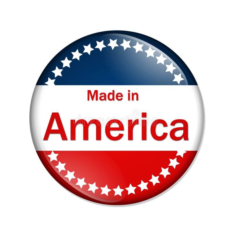 Effectué dans le bouton de l'Amérique illustration libre de droits