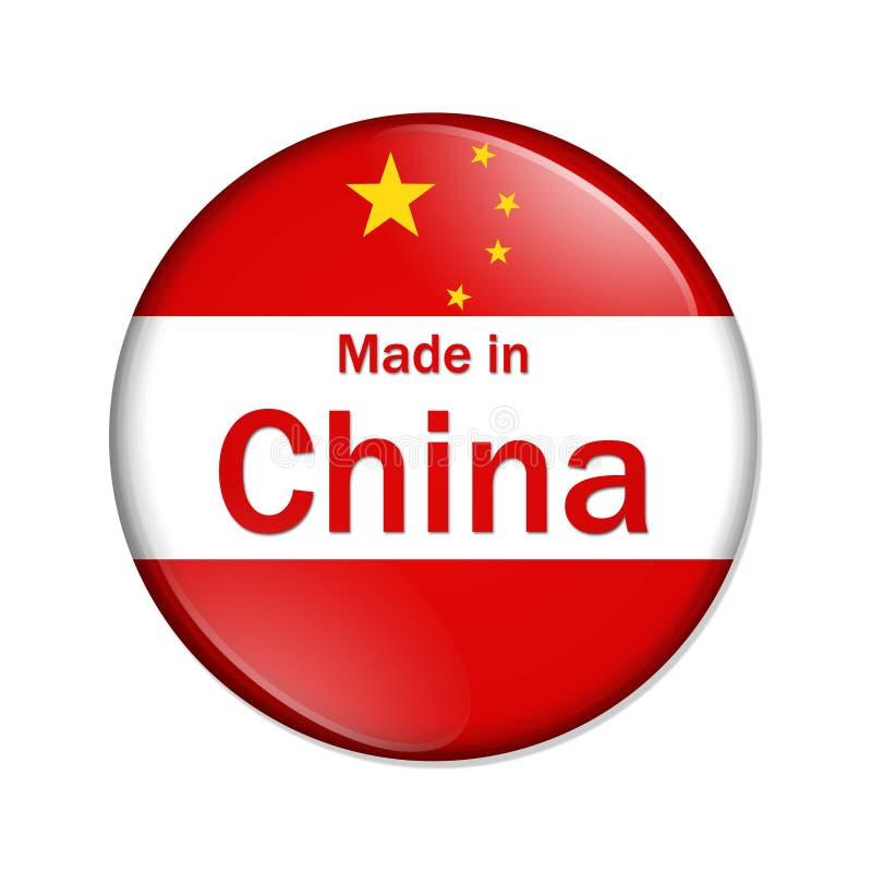 Effectué dans le bouton de la Chine illustration libre de droits