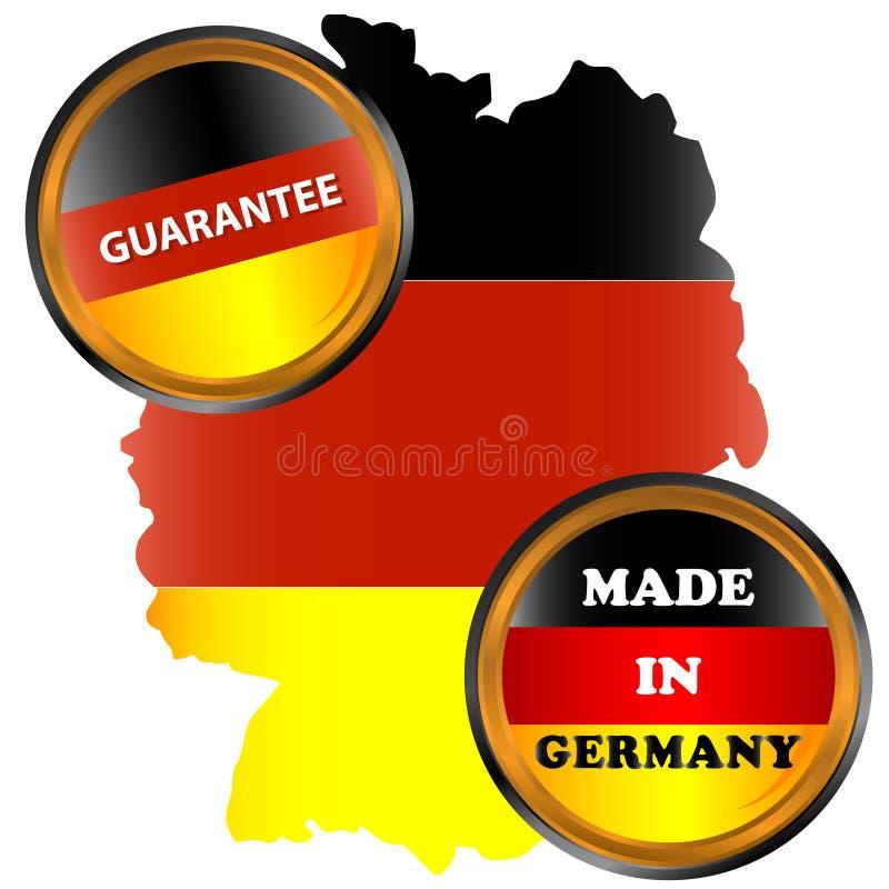 Effectué dans le graphisme de l'Allemagne illustration stock