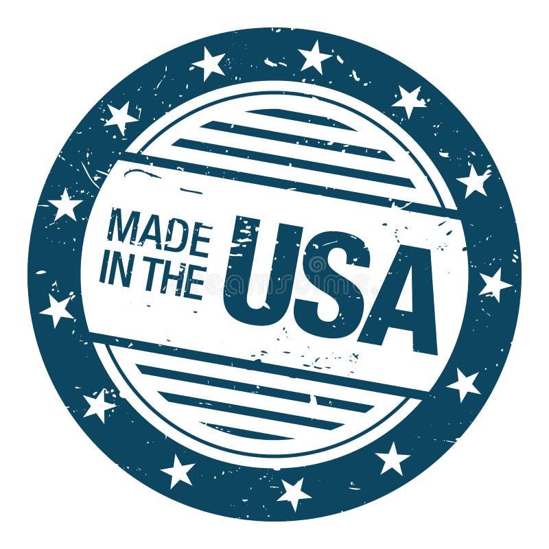 Effectué dans le tampon en caoutchouc des Etats-Unis illustration libre de droits