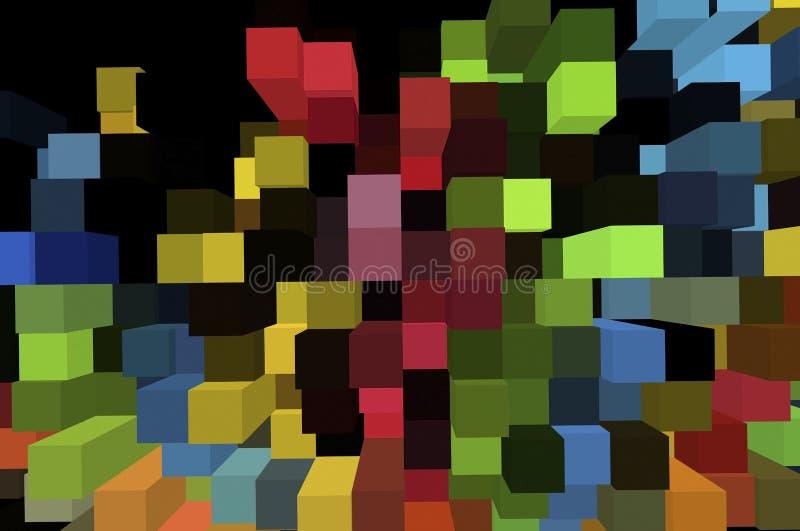 Effectue la forme des milieux abstraits illustration de vecteur