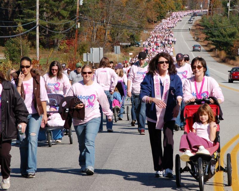 Effectuer des pas contre le cancer du sein photos stock