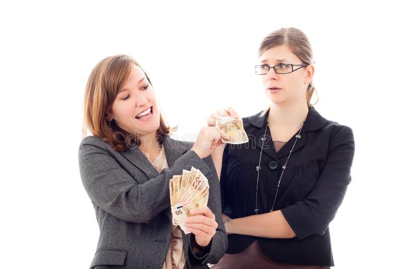 Effectuer et concept perdant d'argent photos stock