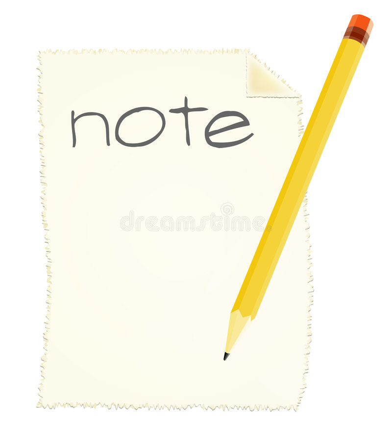 Effectuer une note illustration stock