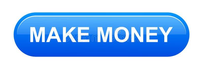 Effectuez le bouton d'argent illustration libre de droits