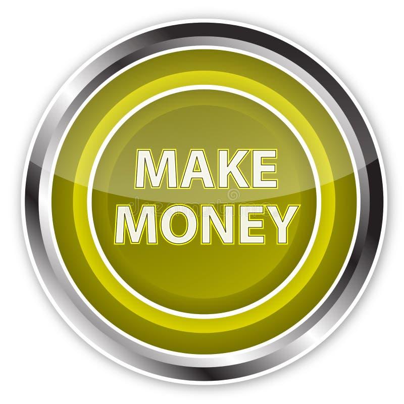 Effectuez le bouton d'argent illustration de vecteur