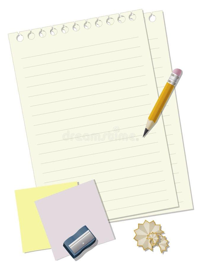 effectuez les notes vos illustration stock