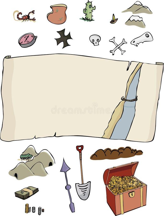 Effectuez votre propre carte de trésor illustration de vecteur