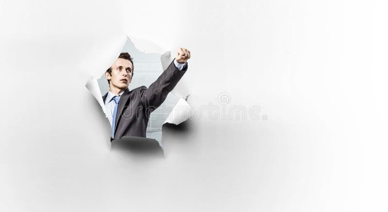 Effekt des heftigen Papiers mit Karateschlag lizenzfreies stockfoto