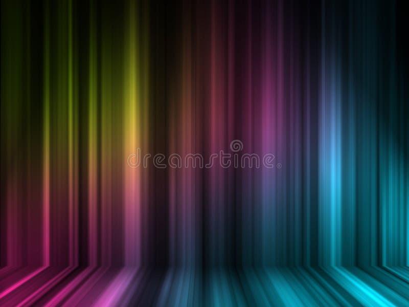 effekt för färg 3d lines många vektor illustrationer
