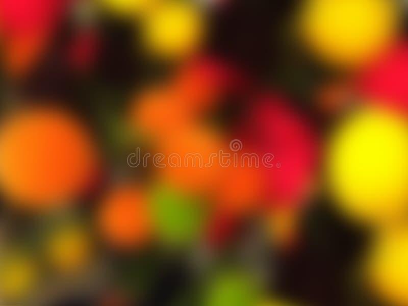 effekt för 50mm bakgrundsblur aktiverar sidan för nattnikkordeltagaren Abstrakta mångfärgade färgrika cirklar kopiera avstånd arkivfoto