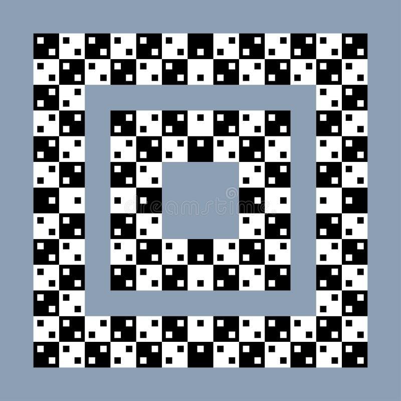 Effekt för optisk illusion, för vektorabstrakt begrepp för op konst bakgrund stock illustrationer