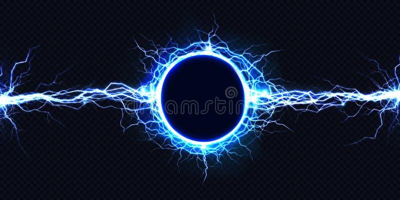 Effekt för vektor för urladdning 3d för elektrisk energi ljus vektor illustrationer