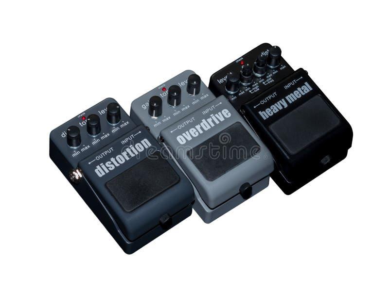 Effekt-Gitarren-Pedal, Schnellgang lizenzfreie stockfotografie