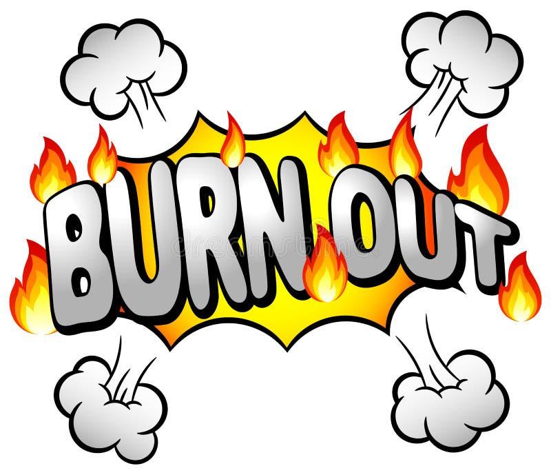Effektblase mit brennen aus lizenzfreie abbildung