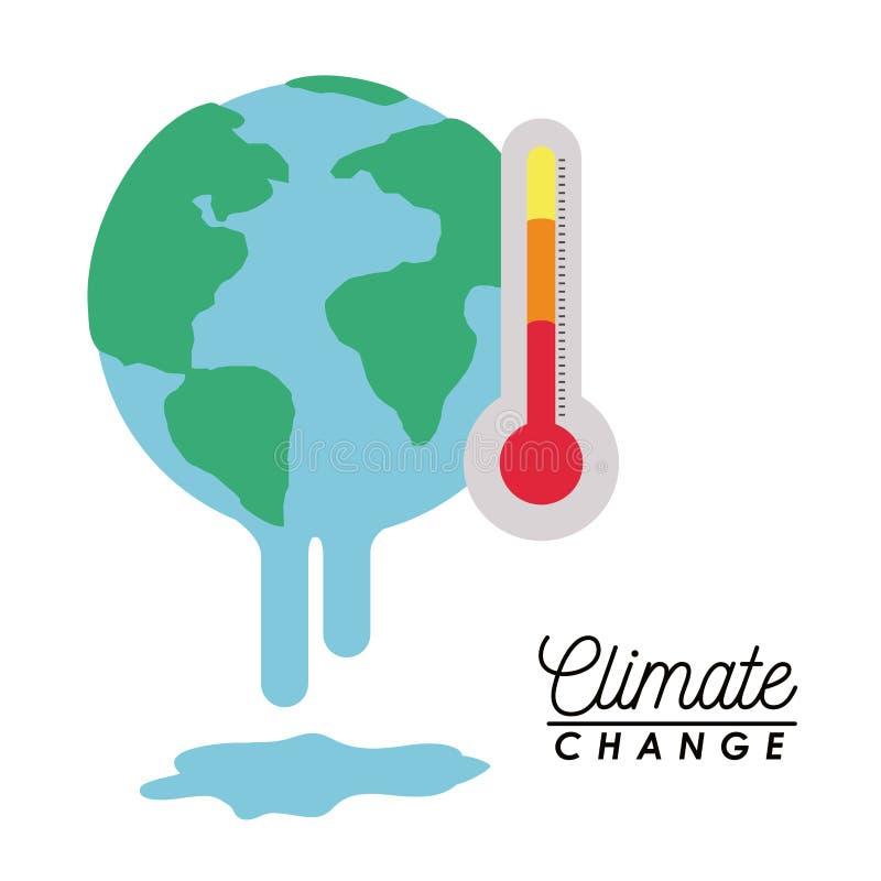 Effekter av klimatförändring stock illustrationer
