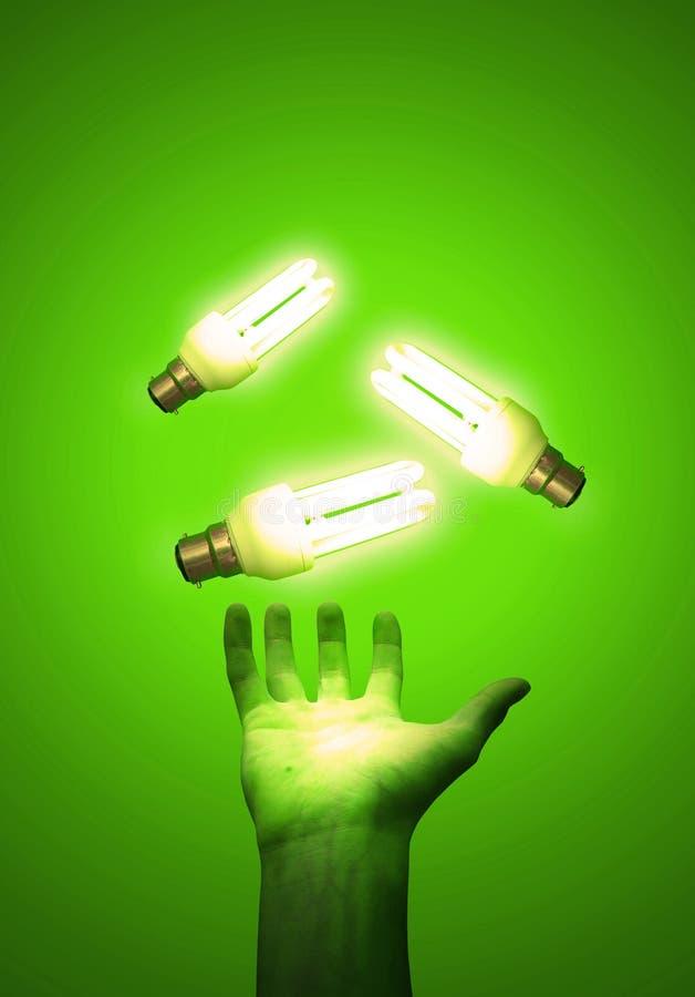 effektiv energi royaltyfria bilder