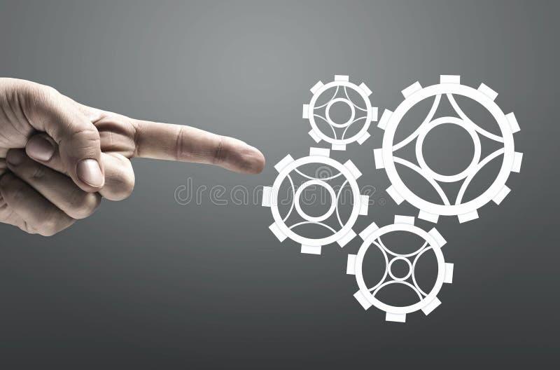 Effektiv funktionsduglig mekanism arkivbild