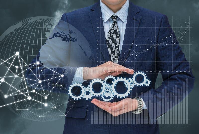 Effektive Mechanismen für das Management auf den Börsenparketten lizenzfreie stockfotos