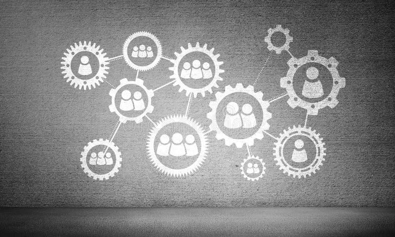 Effektives Geschäft mittels der Sozialkommunikation und der Vernetzung lizenzfreies stockfoto