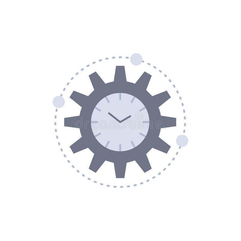 Effektivitet ledning som bearbetar, produktivitet, för färgsymbol för projekt plan vektor vektor illustrationer