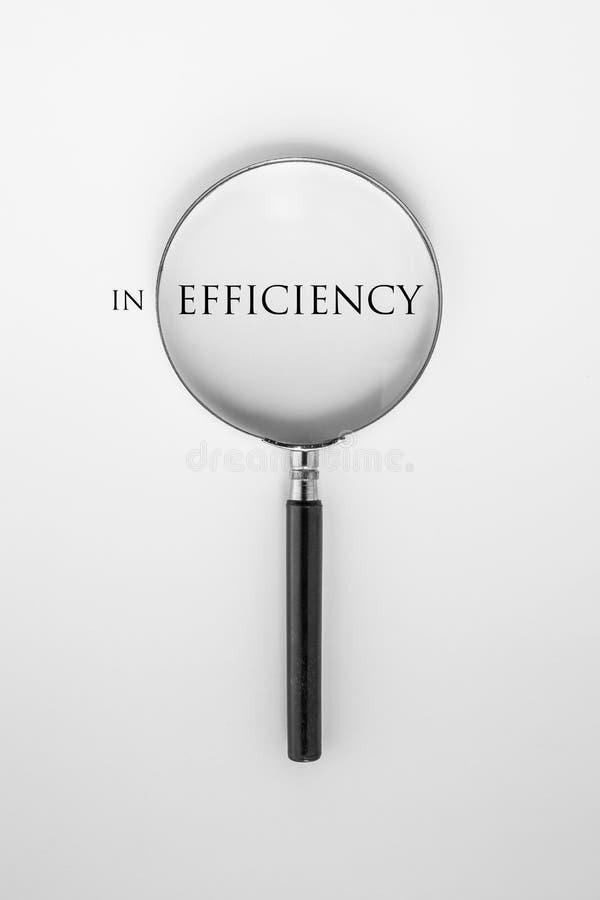 Effektivitet och förstoringsglas royaltyfri illustrationer