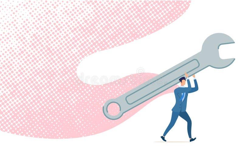 Effektivt trimma för ljust baner, tecknad filmlägenhet royaltyfri illustrationer