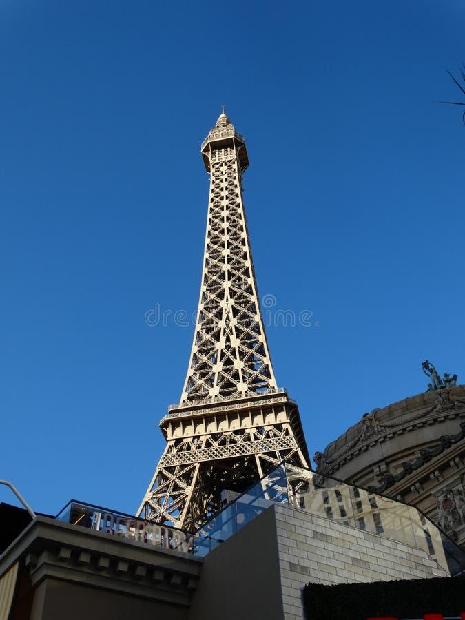 Effel torn i Las Vegas nevada royaltyfri fotografi