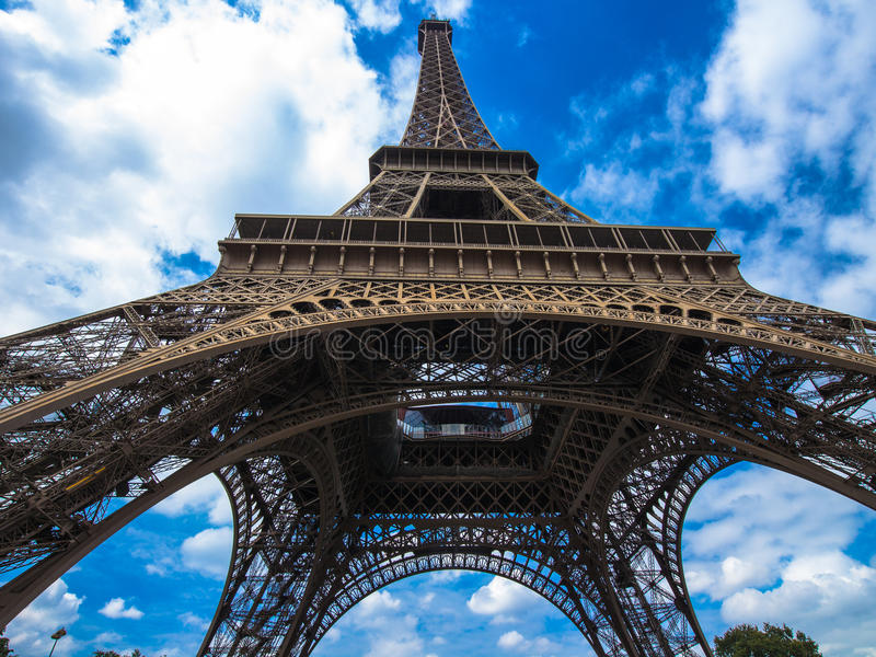 Effel Tower. In Paris with Blue sky royalty free stock photos