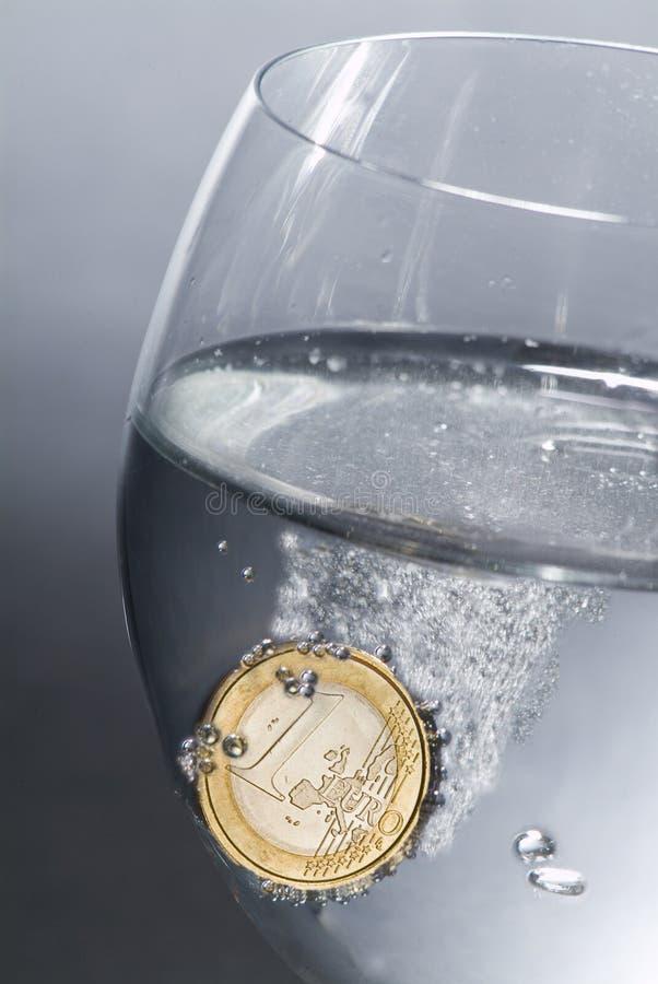 effervescent евро стоковая фотография rf