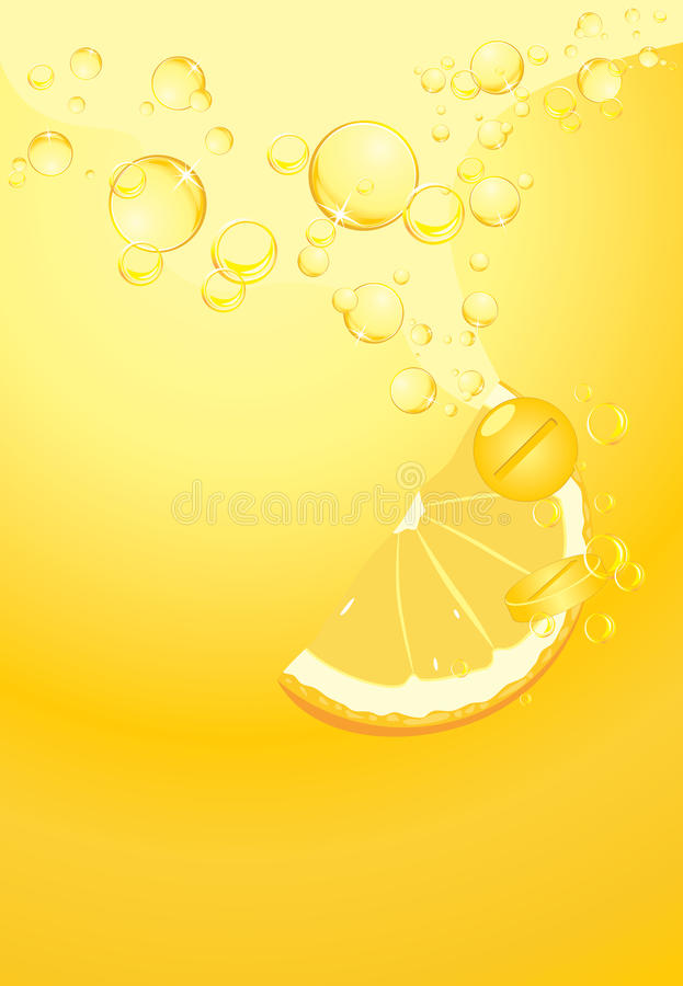 Effervescent pills with vitamin C royalty free stock image