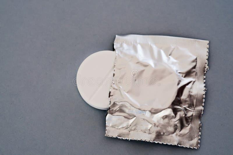 Effervescent tablet. In its original bag stock photos