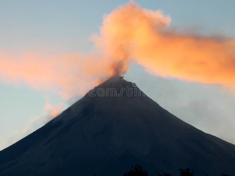 Effet d'éruption de volcan images libres de droits