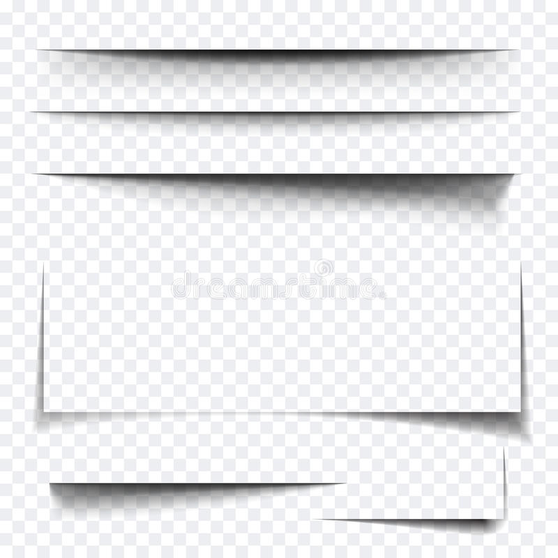 Effet d'ombre de papier de feuille illustration stock