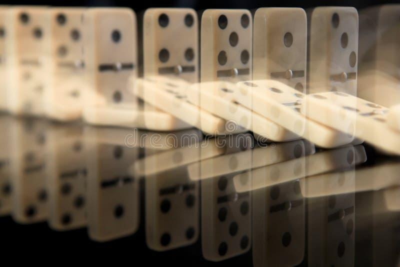 Effet de domino photos stock