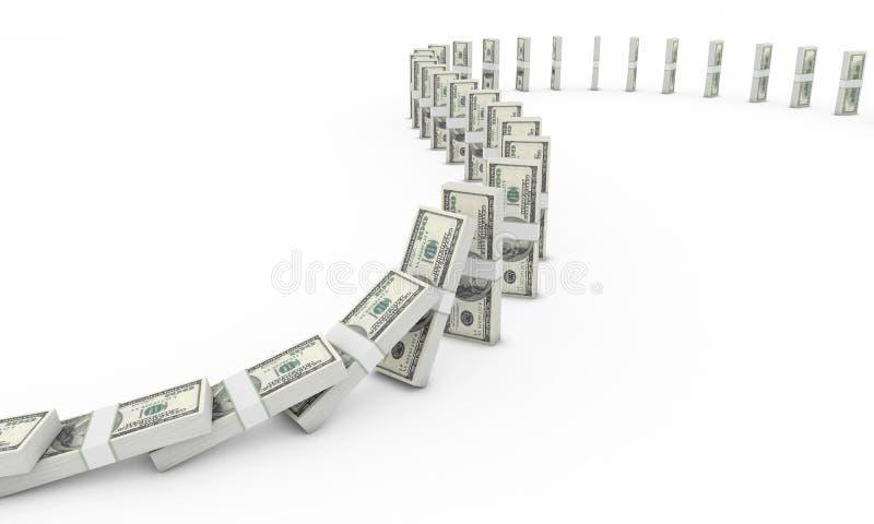 Domino du dollar illustration de vecteur