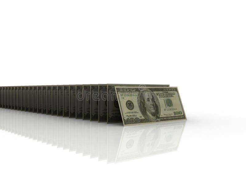 Effet de domino du dollar illustration de vecteur