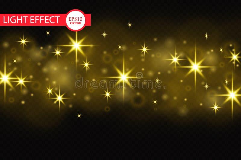 Effet de fond de particules de scintillement d'or de vecteur pour la carte de luxe de riches de salutation Texture de scintilleme illustration stock
