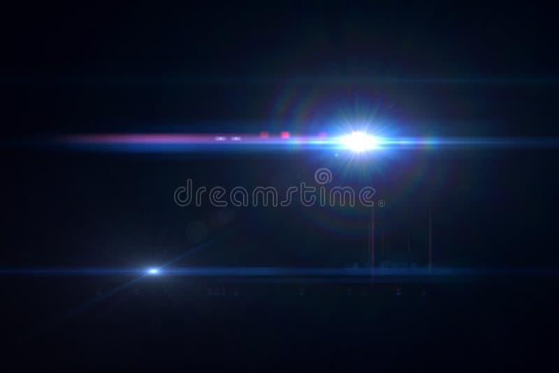 Effet de fusée de lentille image libre de droits