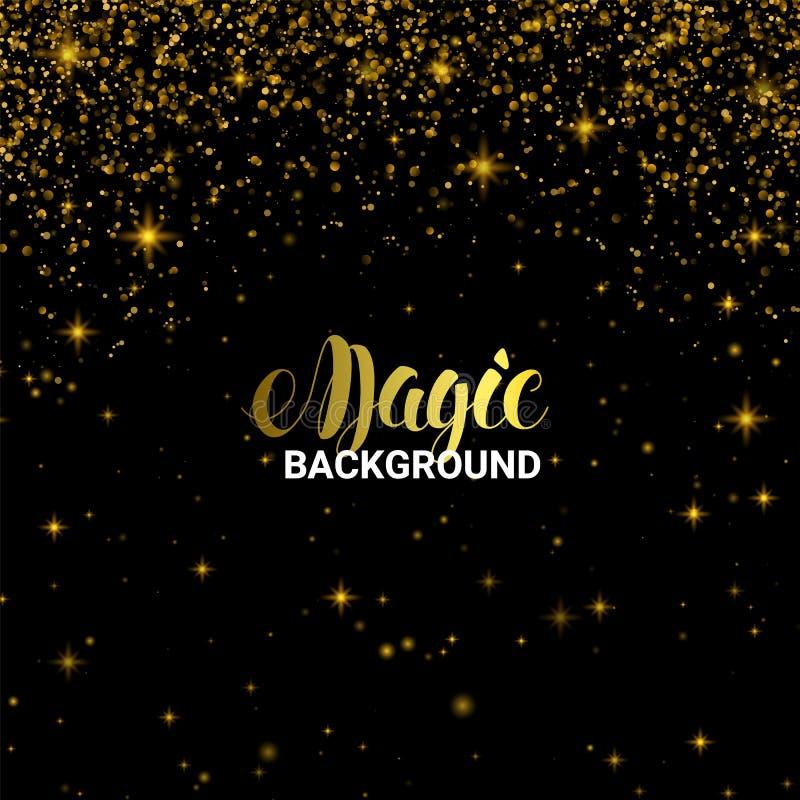 Effet de la lumière d'or magique Lumière brillante d'éclat d'étoile avec les étincelles de luxe d'or Illustration de vecteur sur  illustration de vecteur
