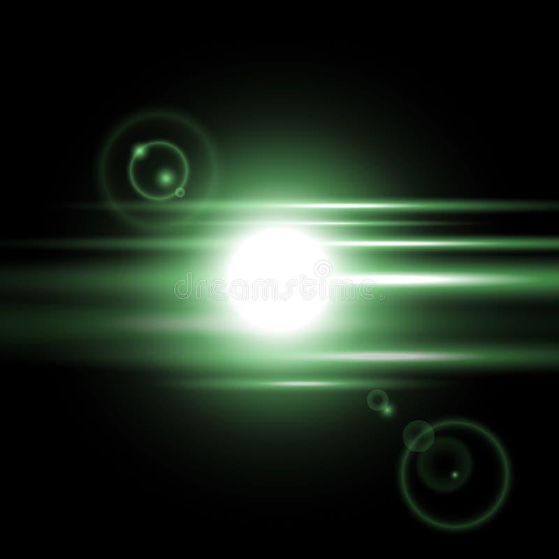Effet de la lumière de lever de soleil, couleur verte illustration stock