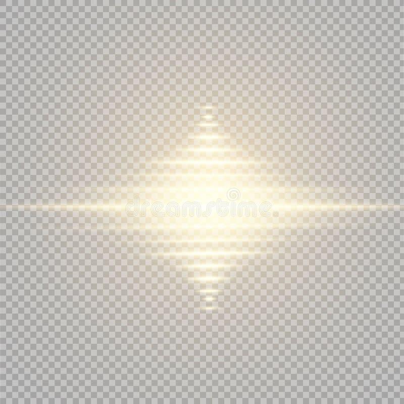 Effet de la lumière de lueur Éclat d'étoile avec des étincelles Sun illustration de vecteur