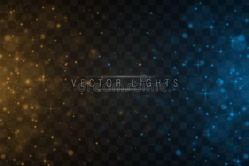 Effet de la lumière de lueur magique illustration libre de droits