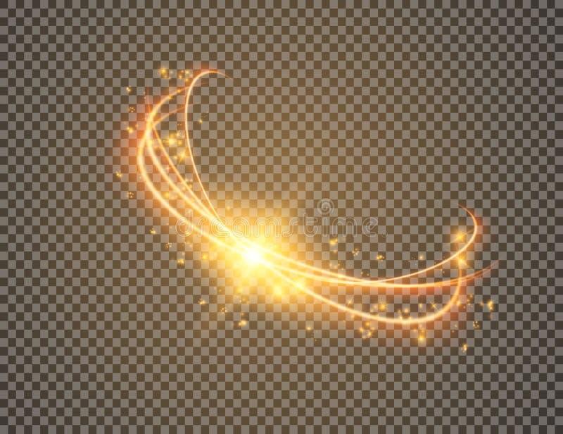Effet de la lumière lueur magique de cercle Illustration de vecteur illustration libre de droits