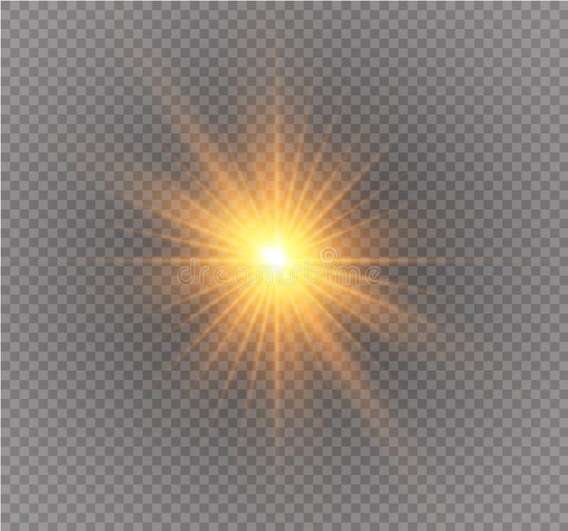 Effet de la lumière spécial de scintillement blanc d'étincelles Le vecteur miroite sur le fond transparent Modèle abstrait de Noë illustration stock